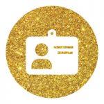 אייקון זהב כרטיס אישי